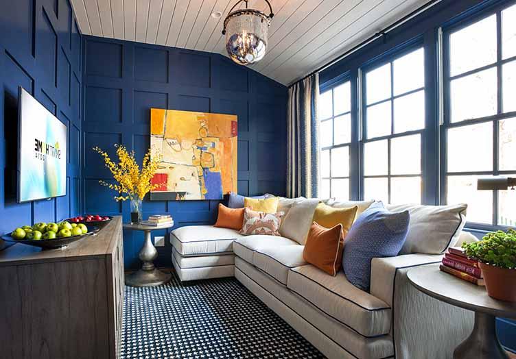 стая в синьо