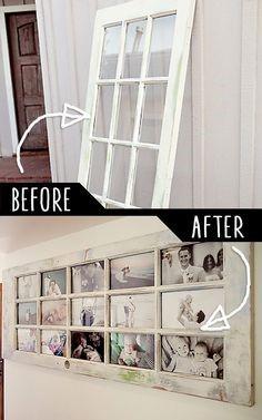 нова рамка за снимки от стар прозорец