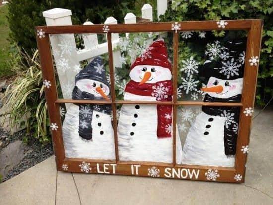 украса-за-Коледа-със-стар-прозорец