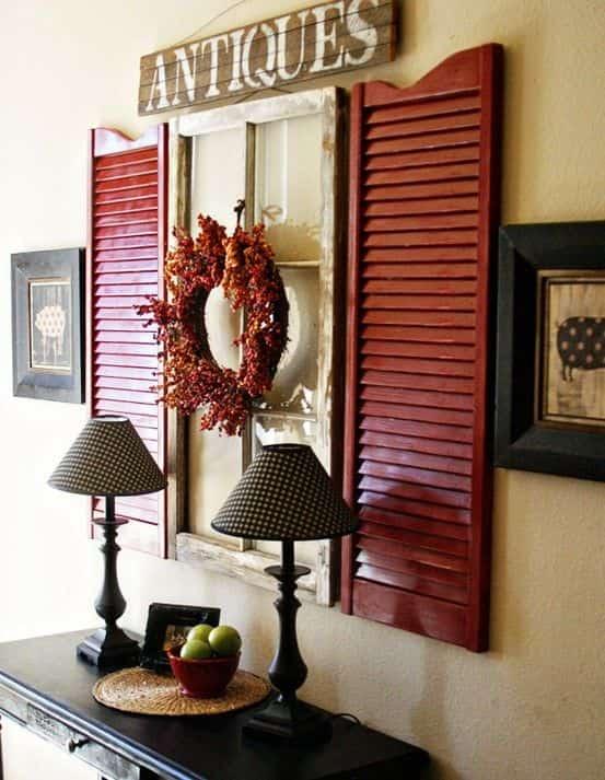 декорация със стари прозорци