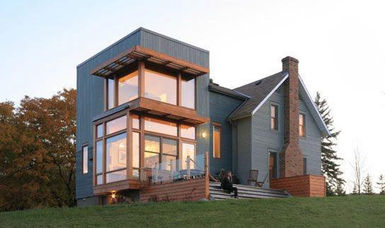 къща с ъглови прозорци