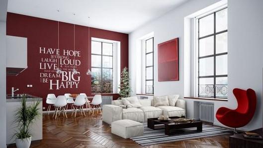 интензивен цвят на стената